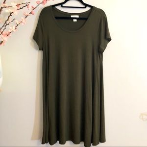NWOT Style & Co short sleeve A-line dress in Olive